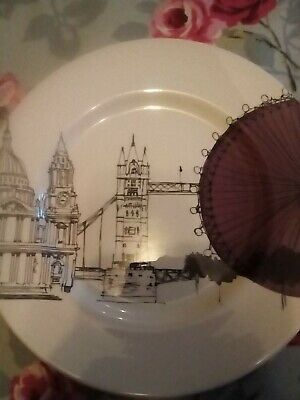 POOLE Pottery Cities In Sketch New York London  Plates • 12.10£