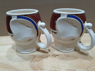 Wade Pair Of Williamson & Magor Royal Victoria Elephant Cups & Tea Caddy • 5.50£