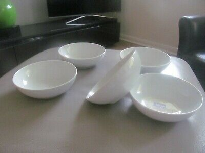Denby 1809 White Cereal Bowls Dishes  X  5 • 3.19£