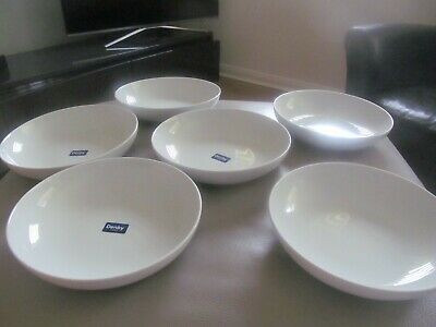 Denby 1809 Large White Pasta Bowls Dishes  X  6,   3  Bowls Have Not Been Used • 6.49£