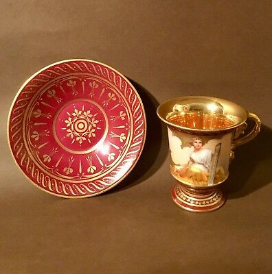 Royal Vienna Dresden 19th Century Wagner Signature Cup RARE! • 250£