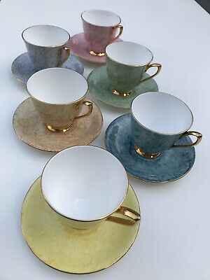 ROYAL ALBERT -  GOSSAMER Set Of 6 Cups & Saucers • 32£