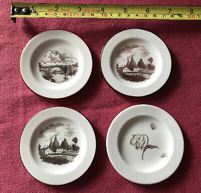 Very Unusual Small Plates. Bat Printed By Paul Holdway. Ironbridge. Potteries.  • 16£