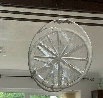 HOLMEGAARD 1960s LARGE STAR SUNCATCHER/ CLEAR GLASS/PERFECT CONDITION • 49.99£