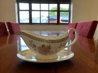 Royal Doulton Canton Gravy Boat And Stand • 3£