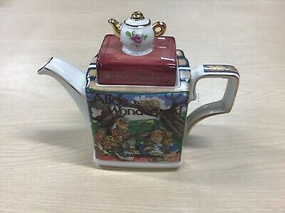 Sadler Classic Stories Alice In Wonderland Gilded Teapot Made In England - VGC • 25£