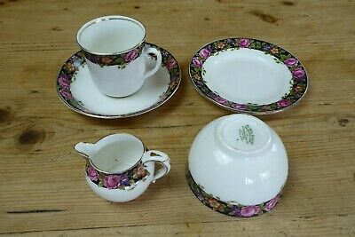 Vintage Jackson & Gosling Olde English China Part Tea For One 5 Pieces Roses • 4£