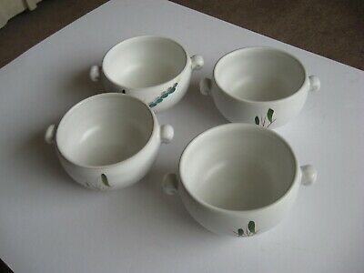 Denby Greenwheat - Four Soup Bowls - Oven Proof- Excellent Condition • 10£