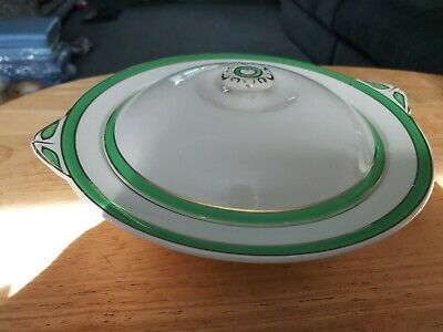 Vintage Queens Green Solian Ware Tureen • 9.99£