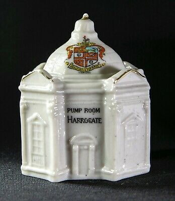 Willow Art Crested China Model Of Harrogate Pump Room With Matching Crest • 15£