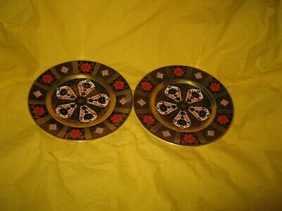 2 X Royal Crown Derby Side Plates Imari 1128 Pattern – 1st Quality • 49.99£