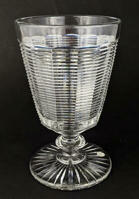Victorian Heavily Cut Glass Goblet 19th Century • 95£