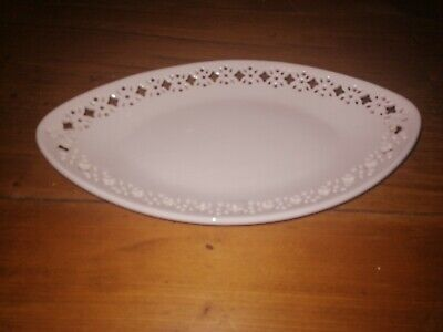 Hartley Greens And Co Leeds Pottery Creamware Oval Sauce Plate 8 3/4  Length  • 14.95£
