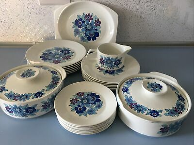 Vintage J & G Meakin Studio Pacific Dinner Set Crockery Floral Plates Etc • 8.80£