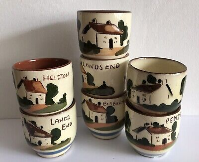 Watcombe Torquay Cottage 7 Egg Cups • 15£