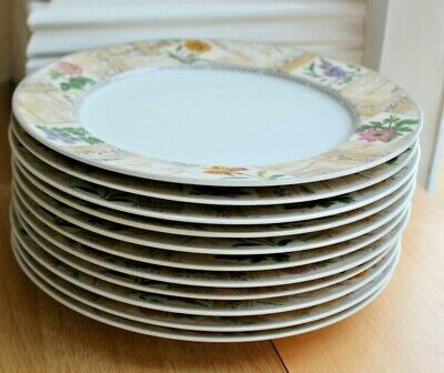 Royal Worcester Dinner Plates Set Of 11 Country Garden Pattern • 9.95£