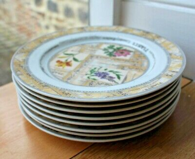 Royal Worcester Side Salad Plates Set Of Eight Country Garden Pattern • 9.95£