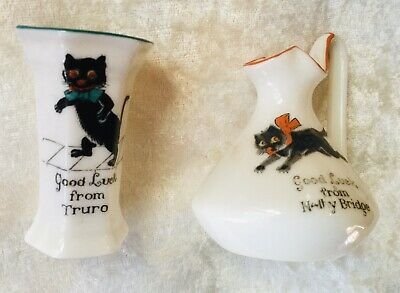 2 Crested China Cat Items Arcadian • 8£
