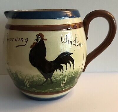 Watcombe Torquay Black Cockerel 'Windsor' Jug • 10£