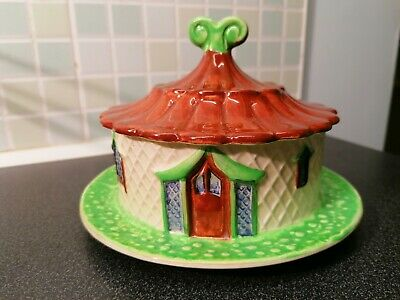 Lovely Vintage Shorter & Sons Cottage Butter Dish Hand Painted Great Condition  • 15£