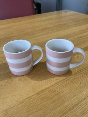 Pink Cornish Ware Cups 2 T G Green • 16£