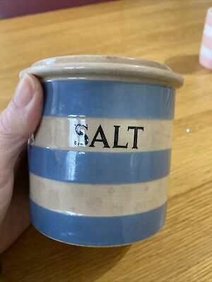 Cornish Ware Salt Pot T G Green • 8£