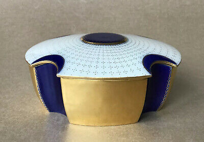 Bing & Grondahl Lotte Lindahl Rare Antique Gilded Box With Lid C1915 Trinket Box • 249£