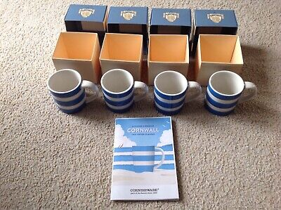 Cornishware 4oz Mugs • 35.99£