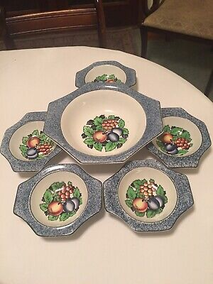 1940 Solian Ware Fruit Bowl Set With 5 Bowls • 25£