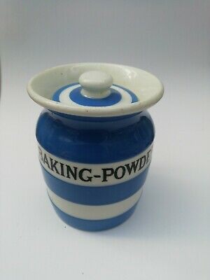 T. G. Green Cornishware Small Baking-powder Jar Black Shield • 20£