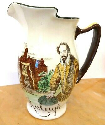 Royal Doulton Series Ware  Authors & Inns  Raleigh, Queens Head, Islington. Jug. • 25£