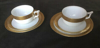 2 Trios Vintage Rosenthal Tea Cup Saucer And Plate • 8£