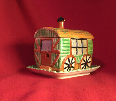 Lovely Vintage Shorter & Sons Caravan Butter Dish Hand Painted Great Condition • 10£