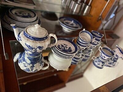 Royal Doulton Dinner & Tea Set Booths Real Old Willow • 25£