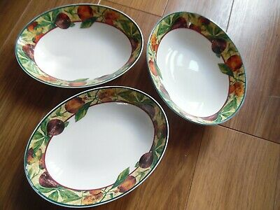 3 Royal Doulton Everyday Fine China Augustine Oval Vegetable Serving Bowl  • 12£