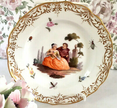 Meissen Courting Couple Lovers Cabinet Plate Wall Plate Rare • 95£