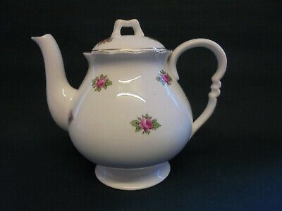 Vintage Small Porcelain Roses Teapot Unmarked Afternoon Tea Bone China Gilt • 9.99£