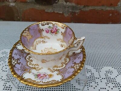 Coalport Batwing Lilac Small Cup And Saucer • 190£