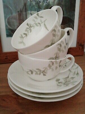 Laura Ashley. Bone China Cups And Saucers X 3 • 15£