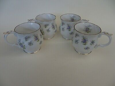 Queen's Fine Bone China, Floral Tea/Coffee Cups, Set Of 4. • 19.99£