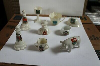 Crested China Pieces= • 5£