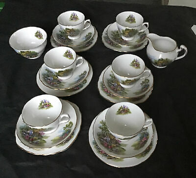 20 Pieces Royal Vale Country Cottage Tea Set • 28.50£