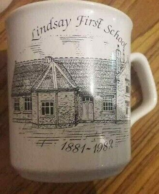 Cup Mug City Lindsay First School Cannon St.1881-1982.Stoke-on-Trent.A. • 15£