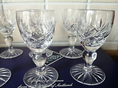 6 EDINBURGH CRYSTAL SHERRY GLASSES Excellent Condition  • 10£