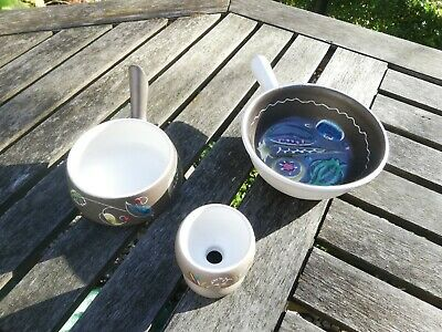 Denby Bourne Glyn Colledge Cloisonne - Two Dishes And Egg Cup  • 39.99£