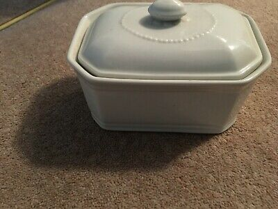 Apilco White Butter Dish & Cover • 5£