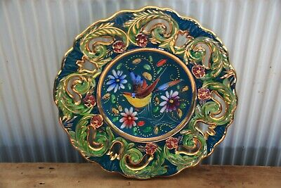 Vintage Continental Pottery Plate • 6.99£