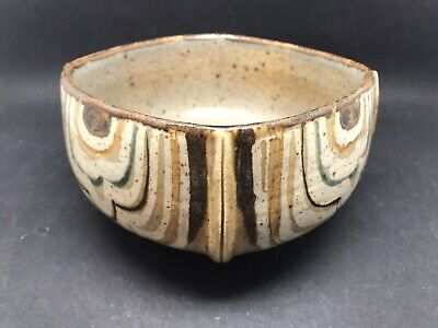 Ivan Weiss Copenhagen Stoneware Bowl - Inscribed Marks & Label To Base (Or391) • 145£