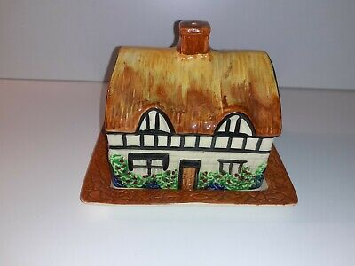 Vintage Price Empire Ware Tudor Series Butter Dish Cottage Ware Great Display • 12.99£
