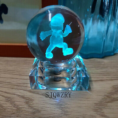 Gift Kid Toy Super Mario Run 3D Crystal Night Light Table Lamp Birthday Gift  • 17.99£